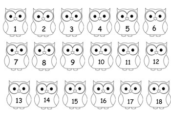 Numbered owls for attendance etc...