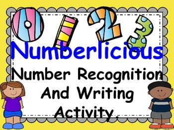 Numberlicious number recognition writing activity 0-20.