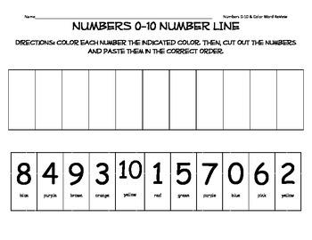 Numbers 0-10 Number Line