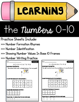 Numbers 0-10 Practice Sheets