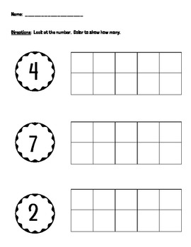 Numbers 0-10 (tens frames)