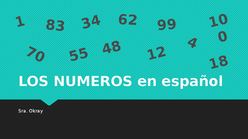 Numbers 0-100 in Spanish