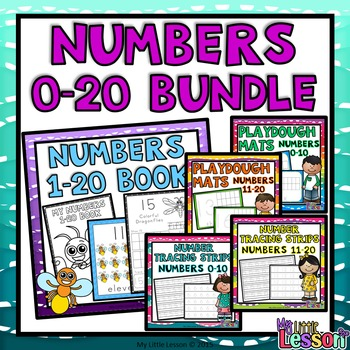 Numbers 0-20 Bundle: Worksheets, Number Posters, Tracing S