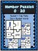 Numbers 0-20 Bundle- Number Book, 4 Piece Puzzles and 4 Se