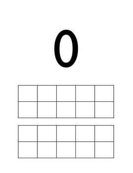 Numbers 0-20 FlashCards/Posters with Ten Frames