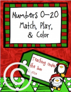 Numbers 0 - 20 Holiday Theme, Penguins, Winter