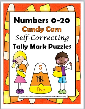 Tally Marks Self-Correcting Puzzles Numbers 1-20 - Autumn