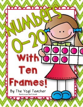 Numbers 0-20 with Ten Frames for the Classroom Wall