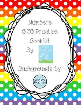 Numbers 0-30 Practice Booklet