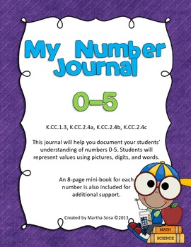 Numbers 0-5: My Math Journal