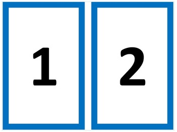 Numbers 0-50 - with border and counters - K.CC.A.1, K.CC.A