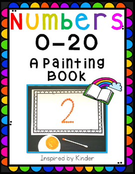 Numbers 0 through 20-A Painting Book!