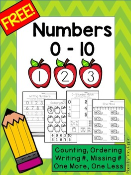 Numbers 0 to 10 FREEBIE - Counting, Ordering, Missing, One