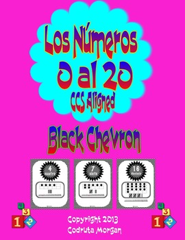 Numbers 0 to 20 - Number Posters - Spanish - Black Chevron