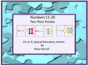 Numbers Two Piece Puzzles 11-20