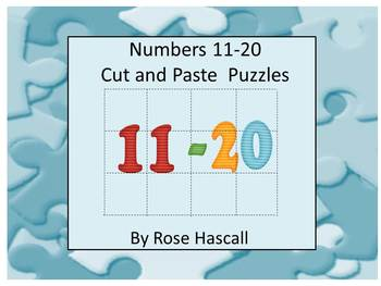 Numbers Cut and Paste Puzzles 11-20