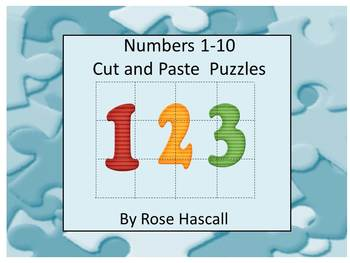 Numbers Cut and Paste Puzzles 1-10
