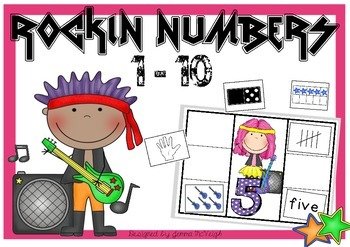 Numbers 1 - 10 Math Centre Activity ~ Miss Mac Attack ~