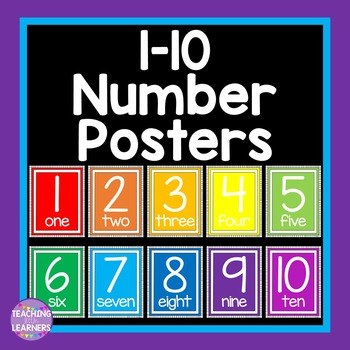 Numbers 1-10 Classroom Posters