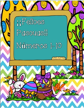 Numbers 1-10/ Happy Easter!!-SPANISH VERSION