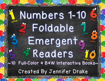 Numbers 1-10 Interactive Number Books!  ~Color & B&W Versi