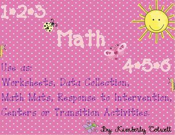 Numbers 1-10 Math Mats/Worksheet Packet