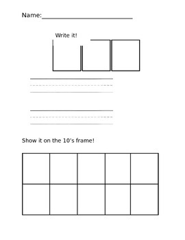Numbers 1-10 Math Work