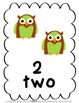 Numbers 1-10: Owl Theme
