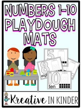 Numbers 1-10 Play Dough Mats