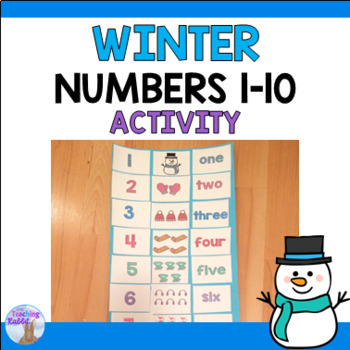 Numbers 1-10 Winter Cut and Paste Activity