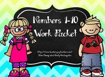 Numbers 1-10 Work Packet