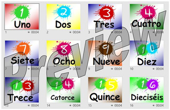 Numbers 1-100 in Spanish