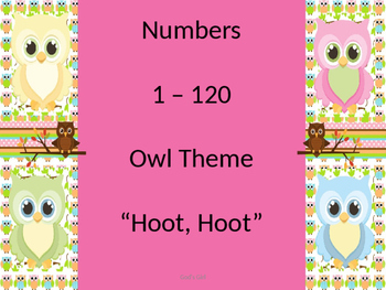 Numbers 1 -120