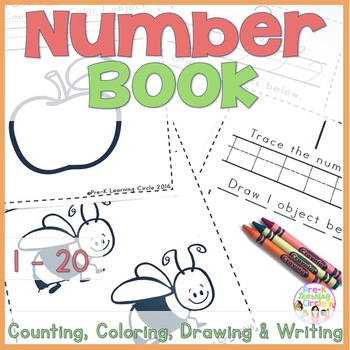 Numbers 1 - 20 Book(Counting, Coloring, Drawing, Tracing &