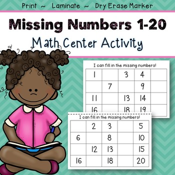 Numbers 1-20 Center Activity