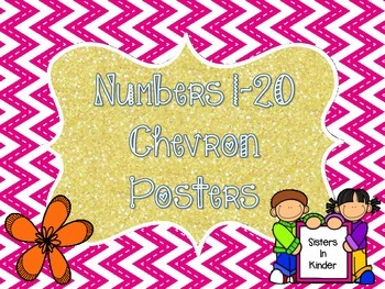 Numbers 1-20 Chevron Posters