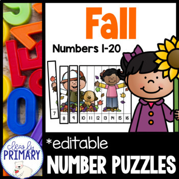 Numbers 1-20: Fall Number Puzzles
