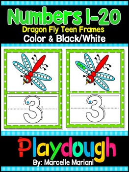 Numbers 1-20 Insects- Dragonfly NUMBERS PLAY DOUGH WORK MA