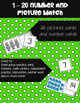 Numbers 1-20 Picture Match