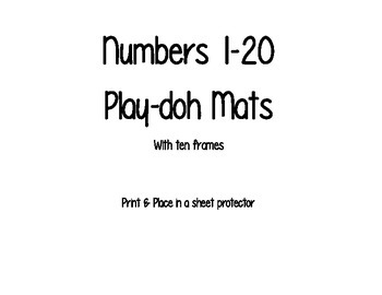 Numbers 1-20 Play-Doh Mats