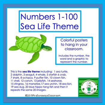 Numbers 1-50 (Sea Life Theme)