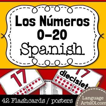 Numbers 1-20 Spanish   Números 1-20 español Posters