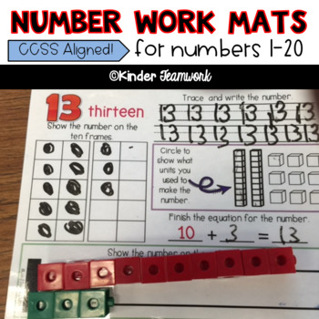 Numbers 1-20: Math work mats for repeat use during Math RTI