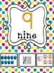 Numbers 1-20 and 10s to 100 Wall Cards Multi Color Polka Dot