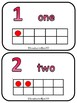 Numbers 1 - 20 with Ten Frame Models for Bulletin Board