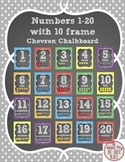 Numbers 1-20 with Ten Frame in Polka Dot Chalkboard Design