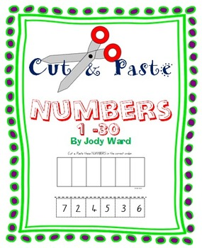 Numbers 1-30 Cut & Paste Worksheets