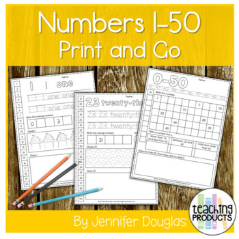Numbers 1-30 Worksheet Set