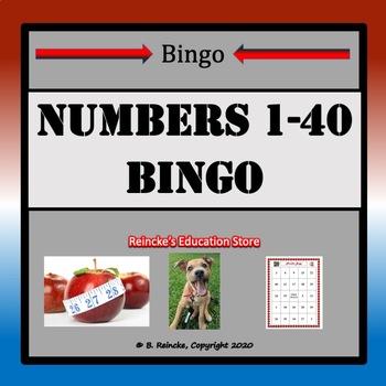 Numbers 1-40 Bingo (29 pre-made boards!)