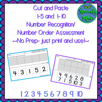 Numbers 1-5 & 1-10 Cut and Paste